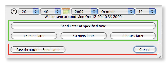 Send Later Dialog