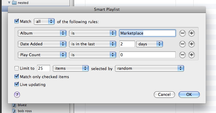 Smart Playlist Rules